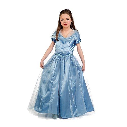 Cinderella Kostüm Prinzessin Märchen Kostüm Kinder Kleid blau - 7/9 Jahre