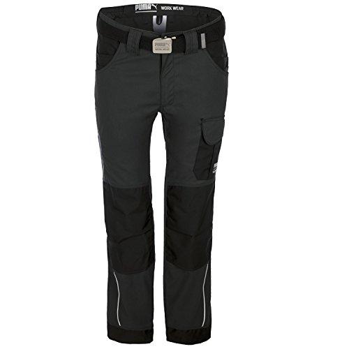 PUMA Workwear Herren Handwerker Bundhose - Arbeitshose Anthrazit-Hell/Schwarz, Gren Hosen/Latzhosen:62