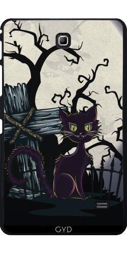 Hülle für Samsung Galaxy Tab 4 (7 Zoll) - Vintage Halloween-Friedhof Katze by Gatterwe