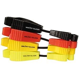 41qbgVX5UcL. SS300  - tee-uu CLIP Handschuhhalter (rot, schwarz, gelb, leuchtend gelb)