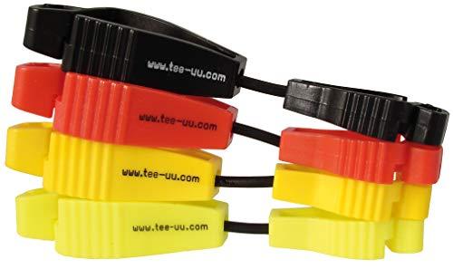 41qbgVX5UcL - tee-uu CLIP Handschuhhalter (rot, schwarz, gelb, leuchtend gelb)