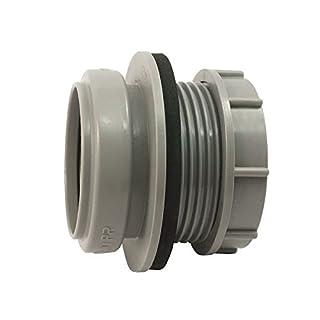 AIRFIT Anschraub-Muffe DN 50- grau- für Kunststoff-Reinigungs-Deckel