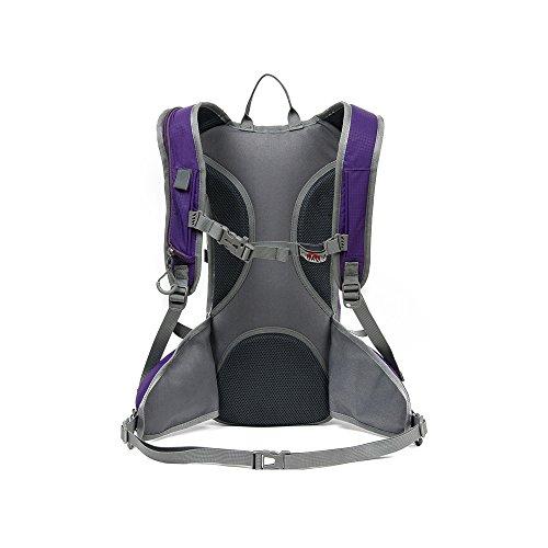Hydration Pack Rucksäcke, 15L Wasser Tasche Ride Bike Rucksack Wandern Reise Bergsteigen. Violett