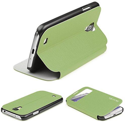 Urcover® View Hülle kompatibel mit Samsung Galaxy S4, Wallet mit [ Standfunktion ] Schutzhülle Case Cover Etui Ständer Aufsteller Handyhülle Grün (Entsperrtes Samsung S4 Galaxy)