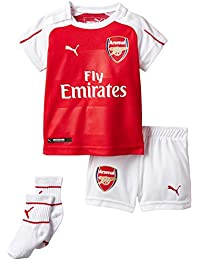 PUMA Baby Jersey AFC Official Product Packaging and Home Replica with Sponsor Logo Red High Risk Red-White-Victory Gold