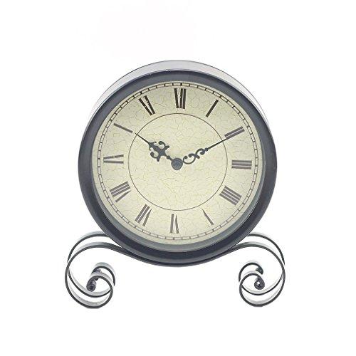 Bomcomi 18.5x15x4CM clásico Reloj de Escritorio de Bell por Mesa Redonda Sentado Decoración del salón...
