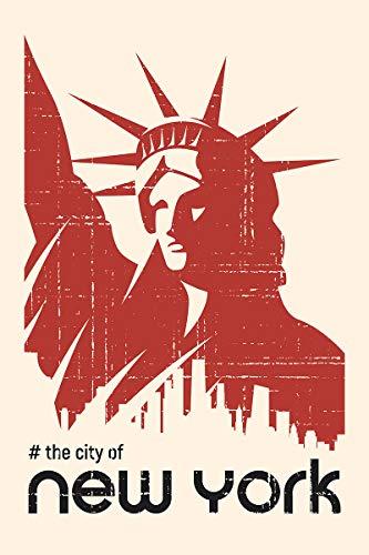 Postereck - Poster 2377 - Vintage Plakat, New York Freiheitsstatue Amerika USA Größe 3:2-61.0 cm x 40.5 cm