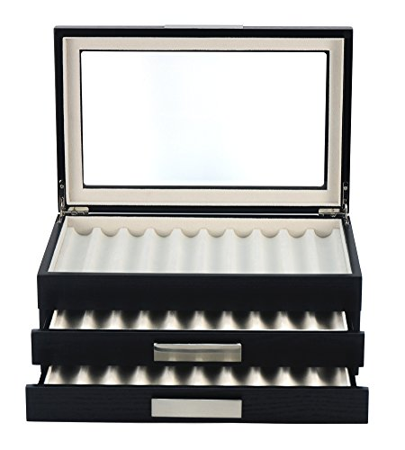 XXL Stiftebox Holz für 30 Füller Stifte Kugelschreiber Federhalter Display Box -