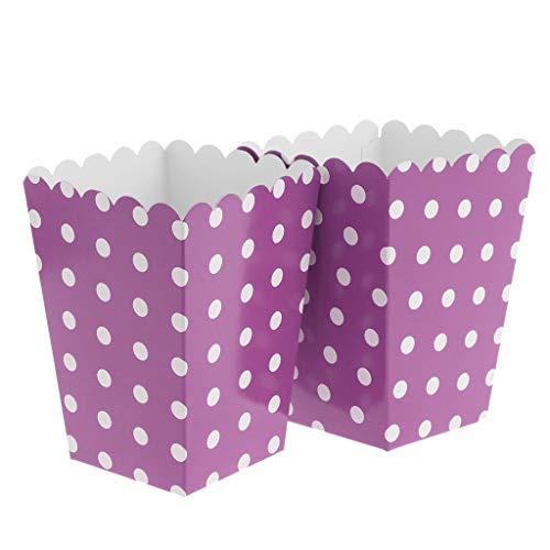 Perfeclan 12pcs Papier Popcorn Box Tasche Tüten Schachtel für Party - Lila