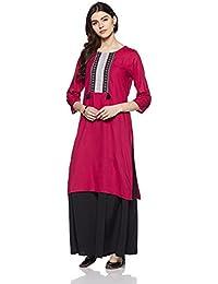 Muta Fashions Cotton Pink Women Kurti ( KURTI375_Pink )