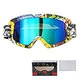 Sportsonnenbrille Mit Sehstärke Motorradfahrer Ausgestattet Mit Off Road Brillen Windschutzscheibe Anti Verdreh Schutzbrillen Skibrille A01-K Damen Herren