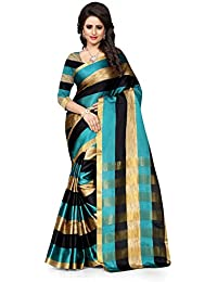 Vastrang Women's Cotton Silk Saree With Blouse Piece(12PRM_Rama_Free Size)