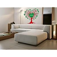 lepni.me N1302 de árbol Grande con la Etiqueta engomada Corazones Vinilo, Regalo de