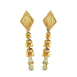 Candere By Kalyan Jewellers 22k (916) Yellow Gold Dyuti Drop Earrings for Women