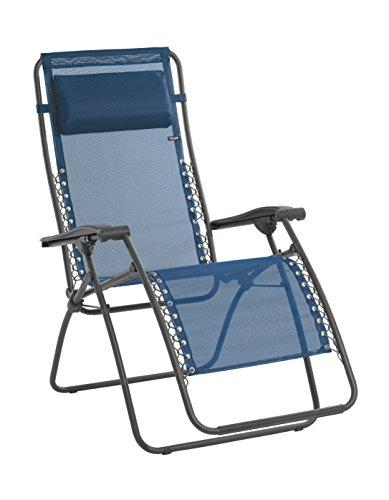 Lafuma Relax-Liegestuhl, Klappbar und verstellbar, Mit Schnürsystem, RSXA, Batyline, blau