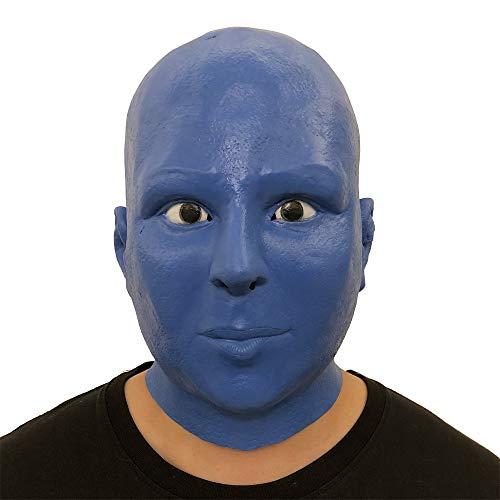 TianranRT Cosplay Blau Alien Schmelzen Gesicht Overhead Latex Kostüm Requisite Unheimlich Maske Spielzeug
