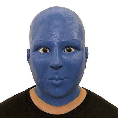 jieGREAT Räumungsverkauf Cosplay Blue Alien Schmelzen Gesicht Latex Kostüm Prop Scary Mask ()