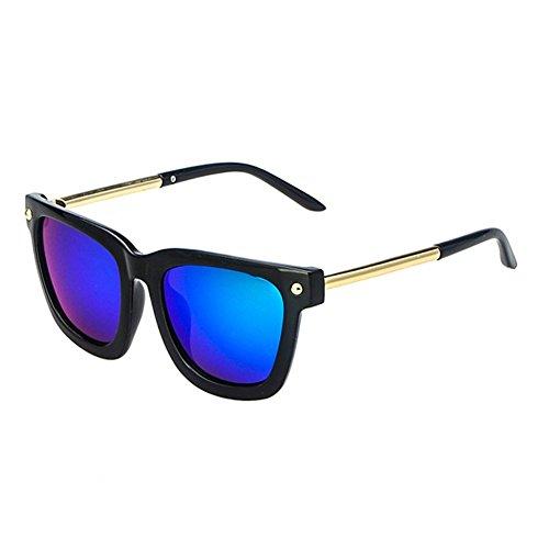 Z-P New Fashion For Unisex Round Reflective UV400 Metal Round Leg Sunglasses 62MM
