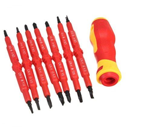 HYCy 15 en 1 Jeu De Tournevis Magnétique De Précision Bricolage Kit D'outils À Main Torx Croix Plat Y en Forme De U Tournevis À Tête Fendue pour Ordinateur Portable