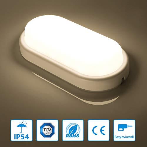 Oeegoo LED Deckenleuchte, IP54 Wasserfest Feuchtraumleuchte, 12W Flimmerfrei Deckenlampe 960lm Ersetzt 85W Glühbirne, led Badlampe Für Wohnzimmer Badezimmer Küche Keller Korridor Neutralweiß 4000k