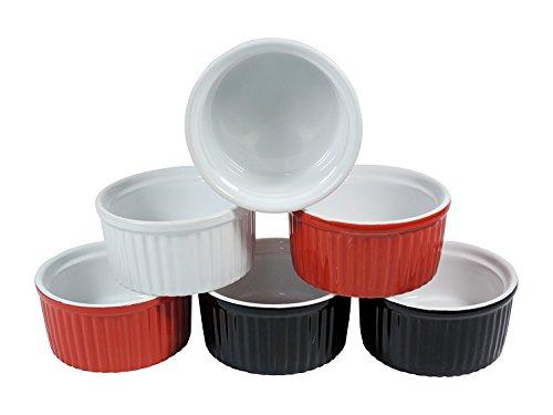 6 kleine Keramik Auflaufformen für Creme Brulee oder Ragout fin Ø 10 cm / B-Ware Kleine Keramik