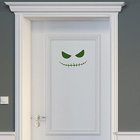 Wandtattoo Porta–Boogie Man Halloween Eye, verde bottiglia, 30 x 19 cm