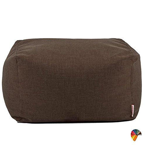 Arketicom Soft Cube Pouf Sacco Poggiapiedi Sfoderabile 84 Cioccolato