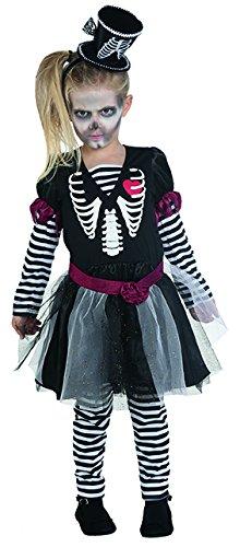 Skelettkleidchen Gr. 116- 152 Mädchen Kleid Leggings Halloween Kostüm