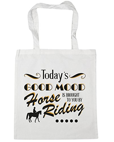 41qbv%2BCKkQL BEST BUY UK #1HippoWarehouse Todays Good Mood Is Brought To You By Horse Riding Tote Shopping Gym Beach Bag 42cm x38cm, 10 litres price Reviews uk