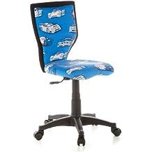 HJH Office 670050 Kiddy - Silla de escritorio infantil con diseño de coches, color azul