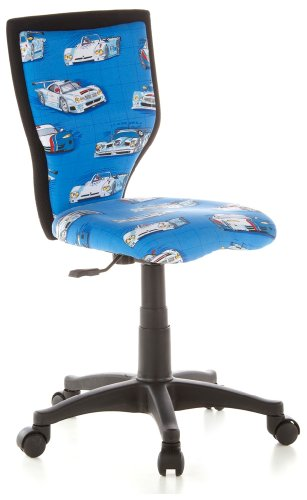 hjh-OFFICE-670050-KIDDY-LUX-Cars-Silla-para-nios-y-silla-giratoria-tejido-azul