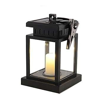 Asvert Lanterna LED a Energia Solare Impermeabile Effetto Candela per Giardino Prato Decorazione Bar