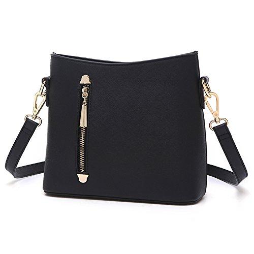 Sacchetti di mini studente dell'atmosfera, borsa a tracolla semplice della singola coreana di estate ( Colore : Grigio ) Nero