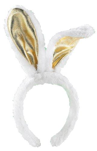 Der Kostüm Junggesellinnen (infactory Accessoire für Kostüm: Goldene Bunny-Ohren aus Plüsch (Köstüm-Zubehör für Karneval, Fasching, Fastnacht,)