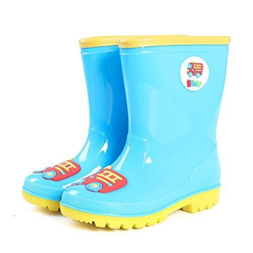 CKH Outdoor-Reisen Kinder Regen Stiefel Licht und Komfortable Car Boy Baby Gummistiefel Regen Stiefel Mode Mädchen Wasser Schuhe in der Röhre (Color : Blue, Size : 26) -