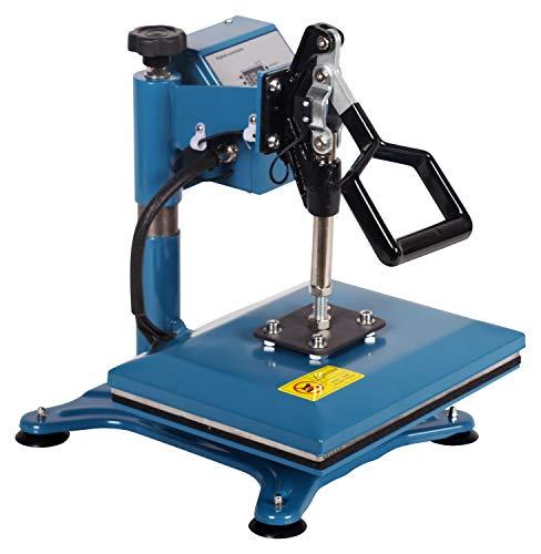 RICOO Transferpresse Textilpresse Power Zwerg-GS Textildruckpresse Schwenkbar Thermopresse Transferdruck Bügelpresse Textil T-Shirtpresse Sublimationspresse Flexfolie und Flockfolie Azur Blau - 2