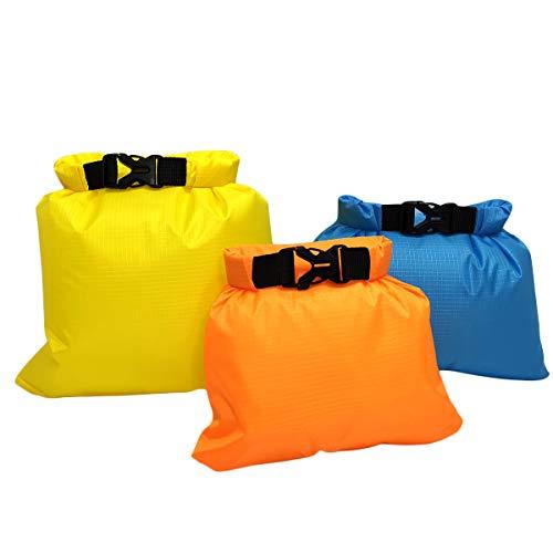 BESPORTBLE 3 STÜCKE Water-Schwimmboje Ultraleichtes Sicherheitsschwimmer-Schwimmersack für Schwimmer Triathletes Schnorchler Surfer (Gelb + Orange + Himmelblau)