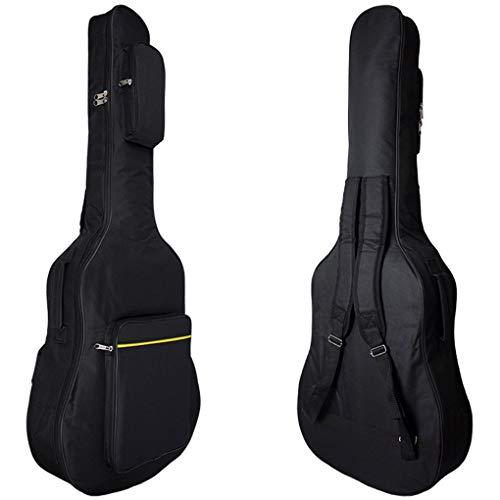 JIAHG 41 Zoll Gitarrentasche Wasserdicht Oxford Gitarrenhülle Gig Bag Klassikgitarrentasche Schulterrucksack für Akustikgitarre und kindergitarre Gitarrenzubehör