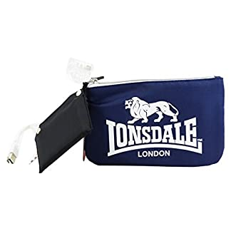 Lonsdale London Make Up Bag Con El Power Bank Bolsos Neceser Vanity Pochettes Azul