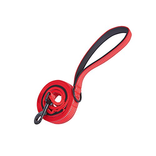 Sturdy-Reflective-Dog-Leash-6-ft-with-Double-Paddded-Handles-Heavy-Duty-Training-Dog-Lead-for-Better-Control-for-Medium-or-Large-Dogs-Red