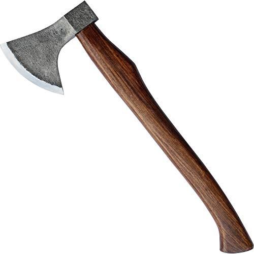MM24 urige Axt für Mittelalter Lager zum Holz hacken mit Lederschutz 875g