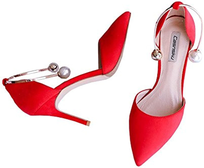 DUWEN Sandalias de las mujeres Verano Strappy Gladiador Bajo talón plano Flip Flops Beach Shoes (Color : Blanco... -