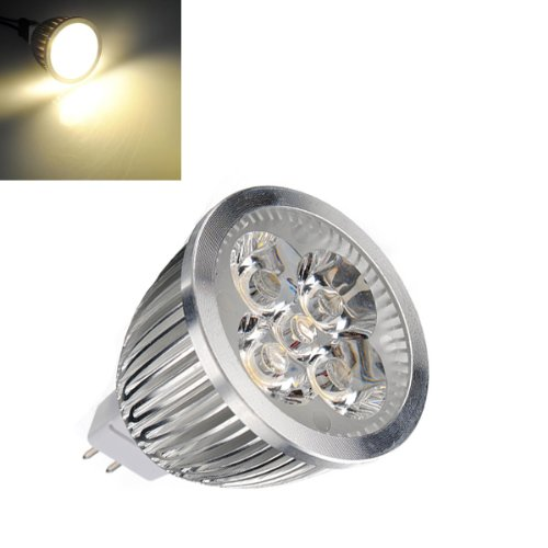 MR16 5W 3800K 450LM 5-LED Warm White Light Bulb (12V DC).