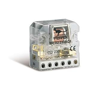 Télérupteur électromécanique 230V 2 contacts 3 séquences à encastrer