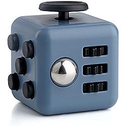 Cubo Antiestres con 6 funciones distintas Fidget Cube Juego Sensorial (Azul)