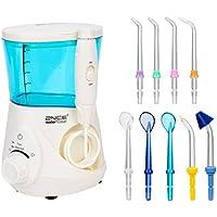 Idropulsore Dentale, 2NICE professionale Counter top orale idropulsore Flosser con 9 ugelli intercambiabili, 12 impostazioni di pressione di acqua e una capacità di 700ml