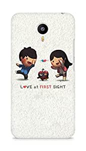 Amez designer printed 3d premium high quality back case cover for Meizu M2 Note (Love At First Sight)