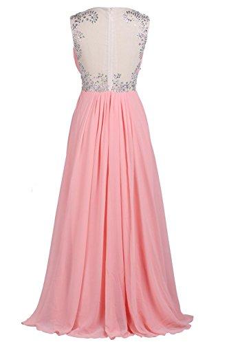 YiYaDawn Hochwertiges Langes Abendkleid Partykleid Ballkleid für Damen Weinrot