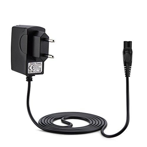 Aukru 15V 0.5A Netzteil Ladekabel Ladegerät Charger für Philips HQ-Serie HQ8505, HQ8, HQ9, HQ56, HQ8445, HQ8825, HQ8830, HQ8835 (Black) mit 1.5M Kabel