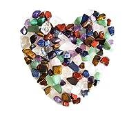 Si ottiene: Un sacchetto di pietre naturali di cristallo, circa 100pezzi, pesa circa 160grams, costituito da 7pietre chakra seguenti: 1) quarzo rosa 2) ametista 3) verde avventurina 4) lapislazzuli 5) diaspro rosso 6) trasparente al quarz...